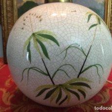 Vintage: ORIGINAL PIE DE LAMPARA SOBREMESA DECORADA VINTAGE AÑOS 70 67 DE DIAMETRO X 30 DE ALTO. Lote 245011290