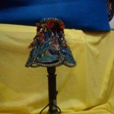 Vintage: LÁMPARA SOBREMESA, METAL ABALORIOS, AÑOS 90, NUEVO SIN USAR.. Lote 246937795