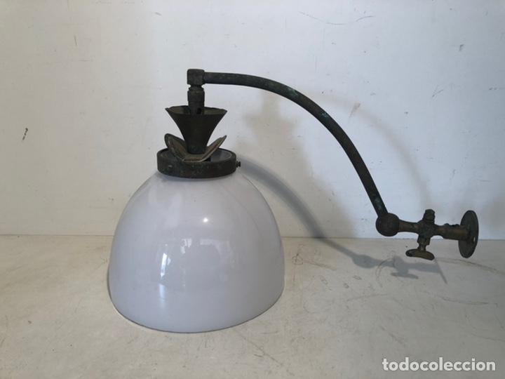 LUZ O APLIQUE DE PARED DE GAS ANTIGUO. (Vintage - Lámparas, Apliques, Candelabros y Faroles)