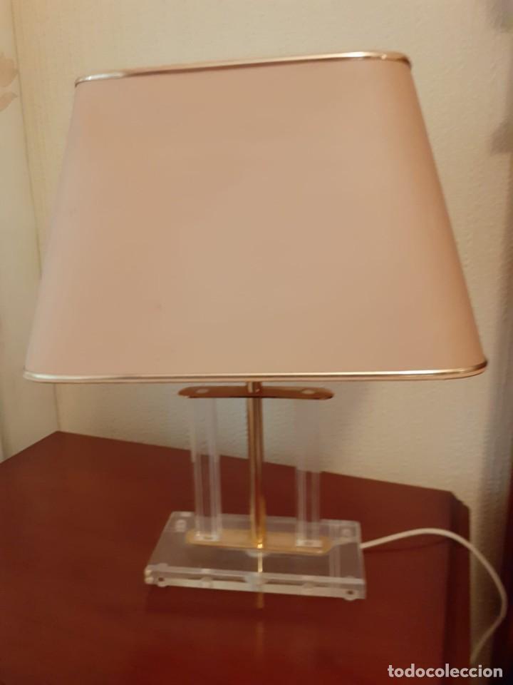 PAREJA DE LAMPARAS VINTAGE DE METACRILATO-PERFECTO ESTADO- (Vintage - Lámparas, Apliques, Candelabros y Faroles)
