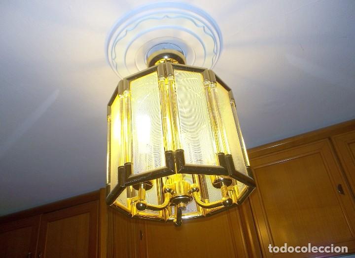Vintage: LAMPARA DE CRISTAL-AÑOS 70 - Foto 2 - 248806200