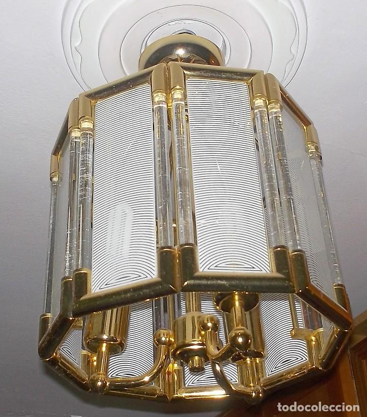 Vintage: LAMPARA DE CRISTAL-AÑOS 70 - Foto 3 - 248806200
