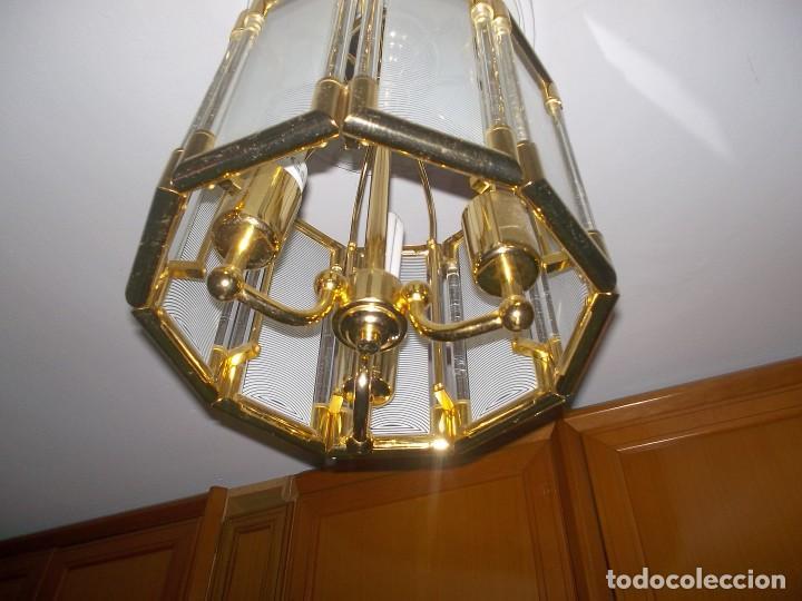 Vintage: LAMPARA DE CRISTAL-AÑOS 70 - Foto 4 - 248806200