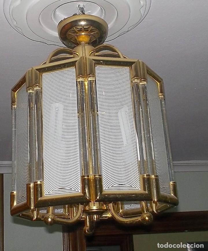 Vintage: LAMPARA DE CRISTAL-AÑOS 70 - Foto 5 - 248806200