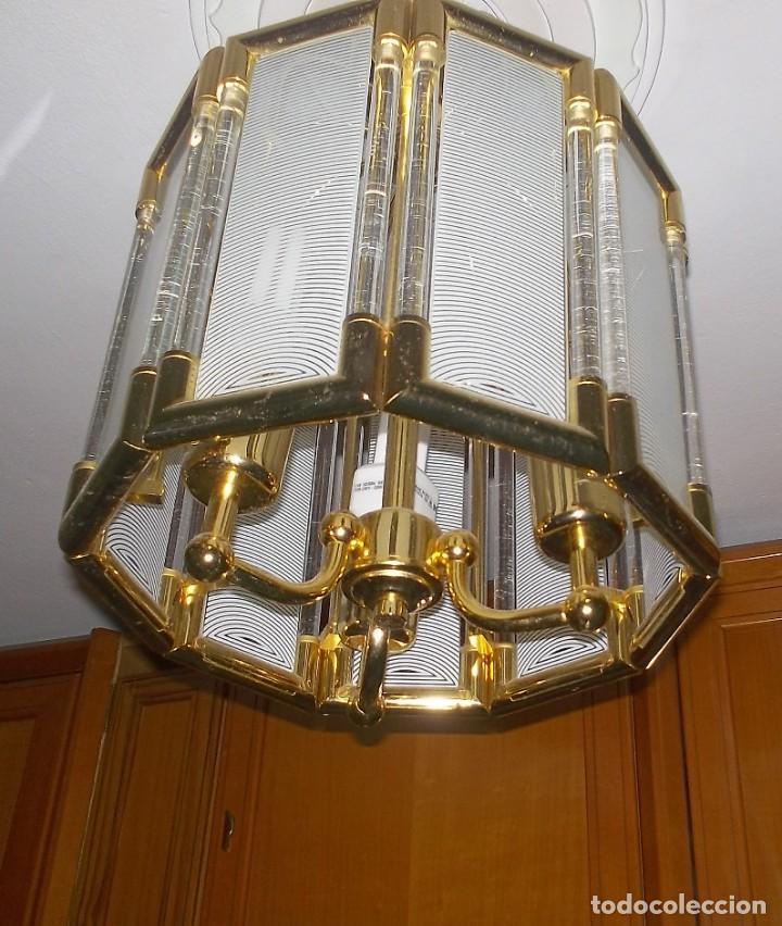 Vintage: LAMPARA DE CRISTAL-AÑOS 70 - Foto 6 - 248806200