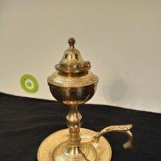 Vintage: CANDIL. LÁMPARA DE ACEITE. BRONCE.. Lote 249102845