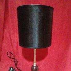 Vintage: BONITA LAMPARA VINTAGE CON SOPORTE DE METAL Y BOLA DE CRISTAL. Lote 249199775