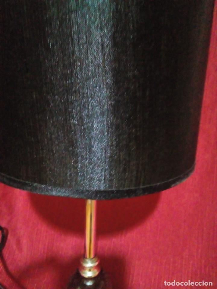 Vintage: bonita lampara vintage con soporte de metal y bola de cristal - Foto 2 - 249199775