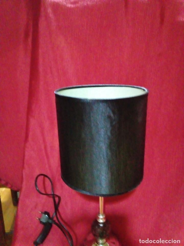 Vintage: bonita lampara vintage con soporte de metal y bola de cristal - Foto 4 - 249199775