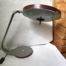 Vintage: MARAVILLOSA LAMPARA FASE , VINTAGE DE LAS RARAS , EN METAL CON DIFUSOR , ORIGINAL AÑOS 60. Lote 249383755