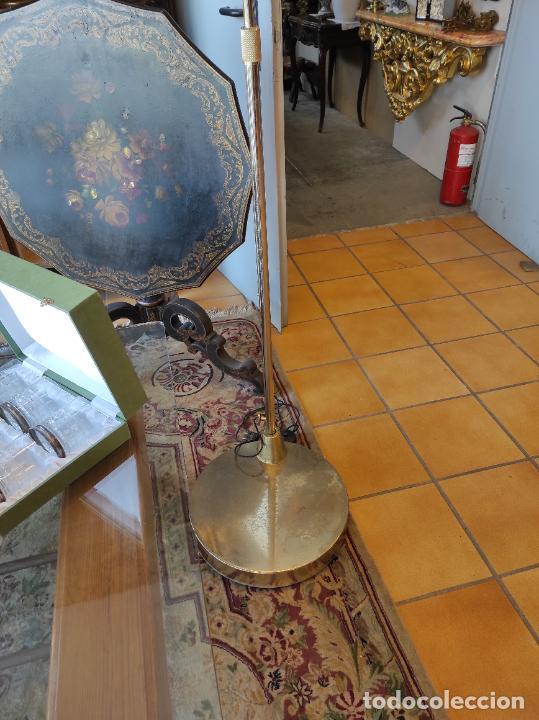 Vintage: Lámpara de Pie Grande en Arco - Latón - 2 Luces - Desmontable - Retro, Vintage - Foto 4 - 251196705