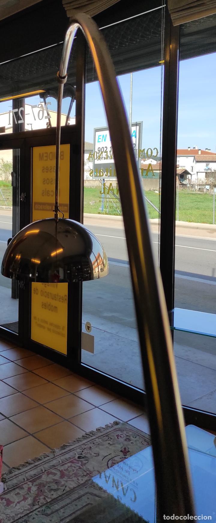 Vintage: Lámpara de Pie Grande en Arco - Latón - 2 Luces - Desmontable - Retro, Vintage - Foto 5 - 251196705