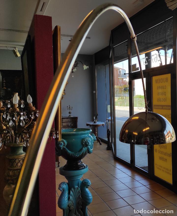 Vintage: Lámpara de Pie Grande en Arco - Latón - 2 Luces - Desmontable - Retro, Vintage - Foto 6 - 251196705