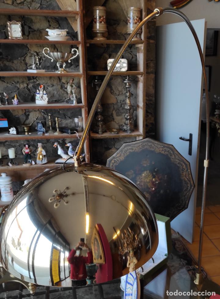 Vintage: Lámpara de Pie Grande en Arco - Latón - 2 Luces - Desmontable - Retro, Vintage - Foto 11 - 251196705