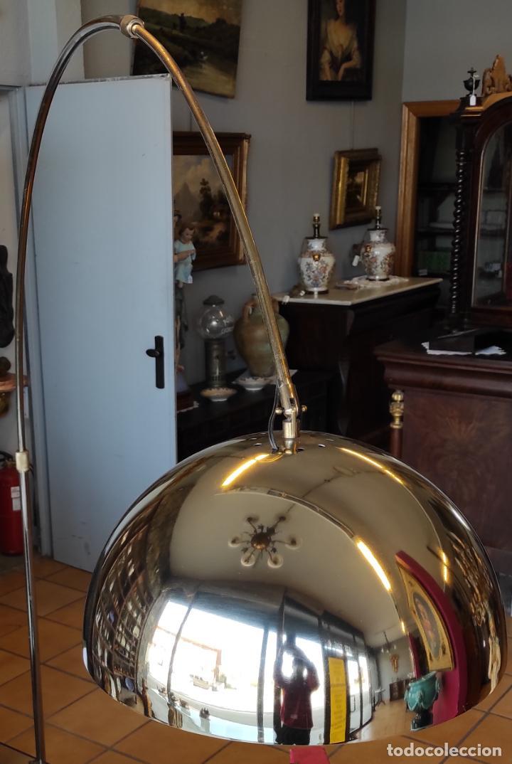 Vintage: Lámpara de Pie Grande en Arco - Latón - 2 Luces - Desmontable - Retro, Vintage - Foto 17 - 251196705