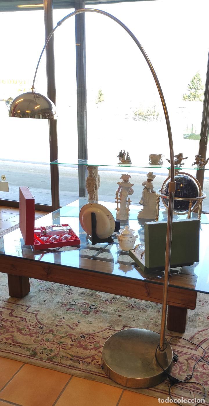 Vintage: Lámpara de Pie Grande en Arco - Latón - 2 Luces - Desmontable - Retro, Vintage - Foto 19 - 251196705