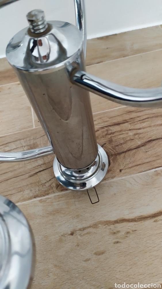 Vintage: Lámpara Techo Cromada 4 bombillas, Tulipa Murano. Auténtica años 70. Para restaurar. - Foto 6 - 253573500