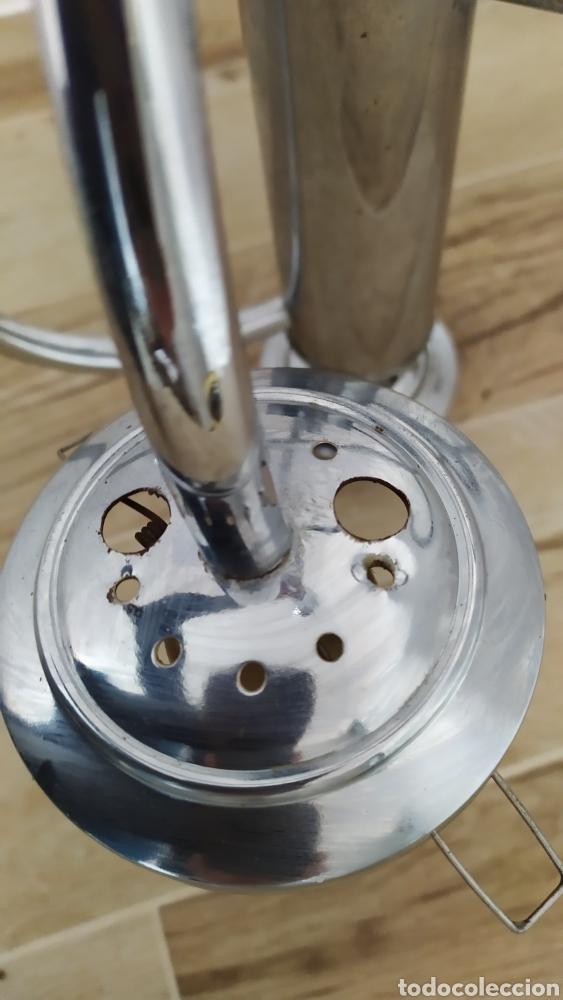 Vintage: Lámpara Techo Cromada 4 bombillas, Tulipa Murano. Auténtica años 70. Para restaurar. - Foto 7 - 253573500