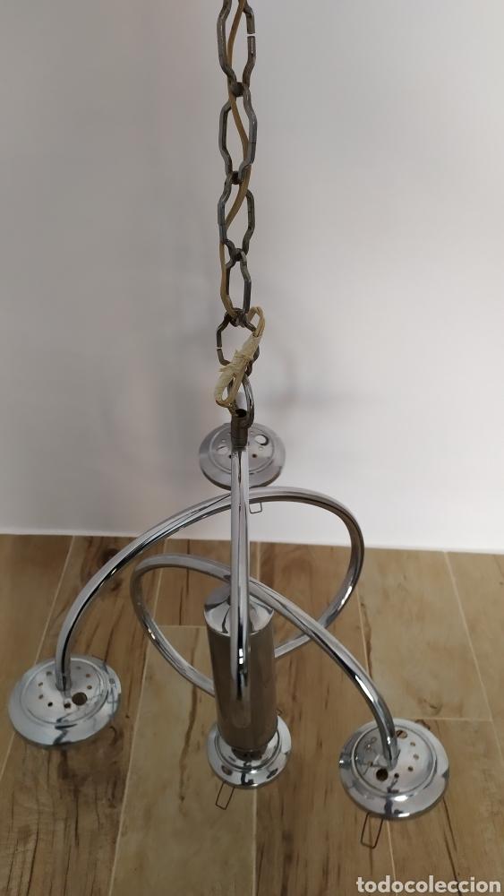 Vintage: Lámpara Techo Cromada 4 bombillas, Tulipa Murano. Auténtica años 70. Para restaurar. - Foto 10 - 253573500