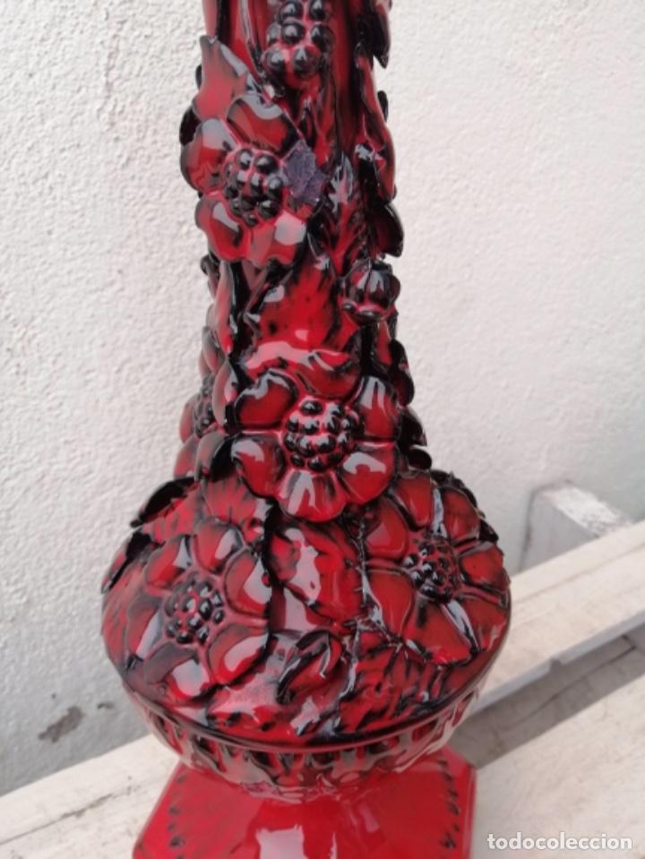 Vintage: LAMPARA VINTAGE MANISES PORCELANA CERÁMICA FLORES CASES - Foto 12 - 253965970