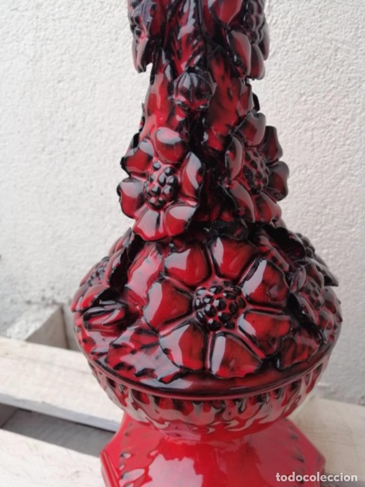 Vintage: LAMPARA VINTAGE MANISES PORCELANA CERÁMICA FLORES CASES - Foto 10 - 253965970