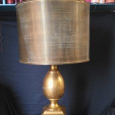 Vintage: LÁMPARA DORADA LATÓN. Lote 254105585