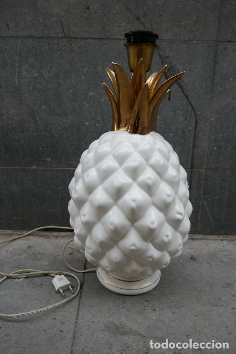 Vintage: Gran lámpara vintage de piña Manises Dimensiones: 48 cm x 28 cm - Foto 2 - 254474940
