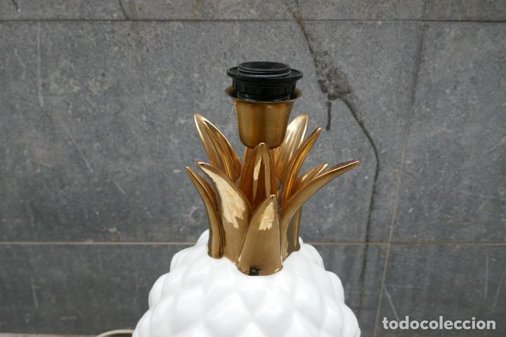 Vintage: Gran lámpara vintage de piña Manises Dimensiones: 48 cm x 28 cm - Foto 3 - 254474940