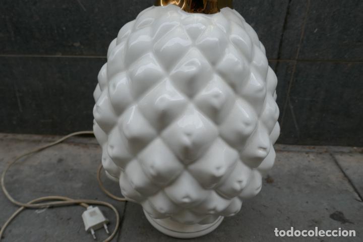 Vintage: Gran lámpara vintage de piña Manises Dimensiones: 48 cm x 28 cm - Foto 4 - 254474940