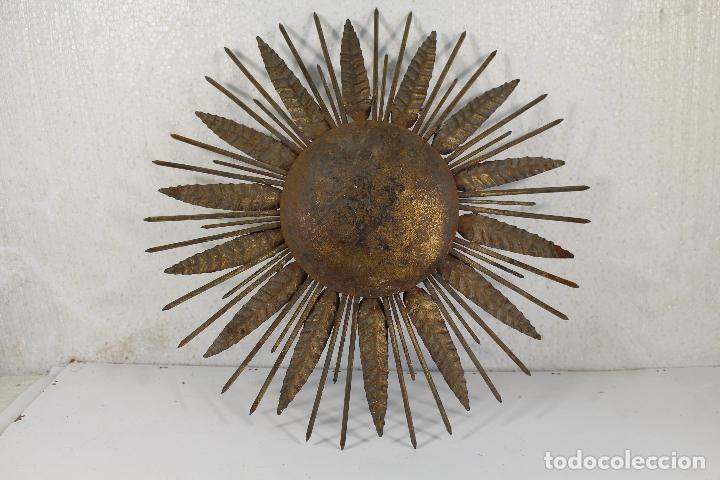 LAMPARA SOL VINTAGE (Vintage - Lámparas, Apliques, Candelabros y Faroles)