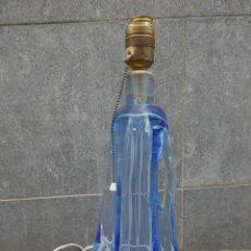 Vintage: PRECIOSA LAMPARA DE MESA DE CRISTAL AZUL DE MURANO.. Lote 255515370