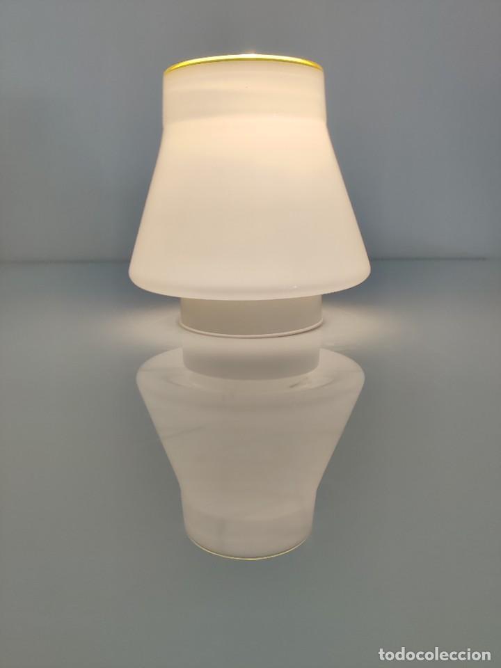 Vintage: Lámpara de techo aplique LEUCOS en cristal de Murano, 1970s - Foto 3 - 261638055