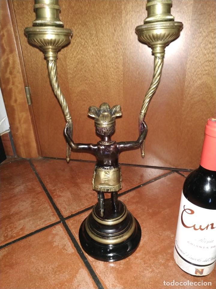 Vintage: Candelabros de bronce estilo imperio - Foto 4 - 262047445