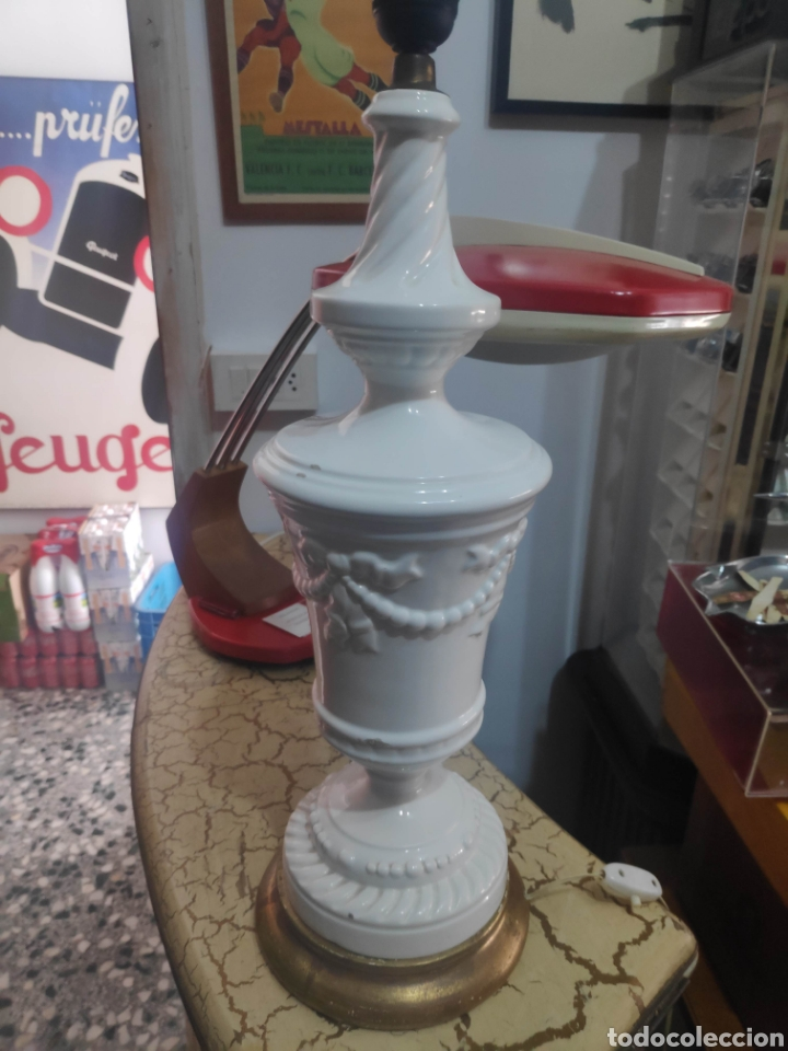 Vintage: Lampara vintage cerámica Manises navarro - Foto 2 - 262099995