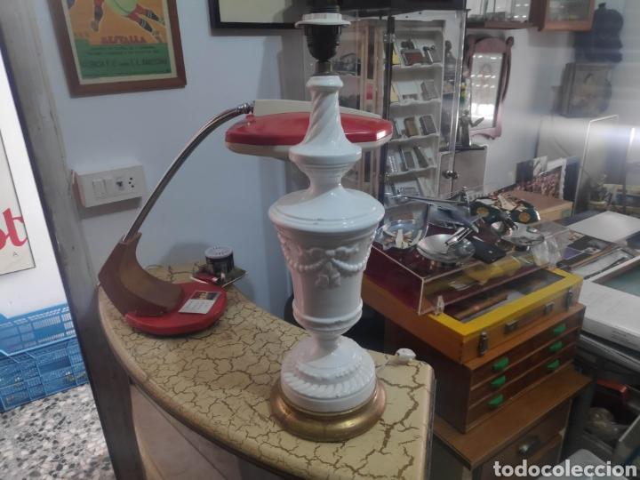 LAMPARA VINTAGE CERÁMICA MANISES NAVARRO (Vintage - Lámparas, Apliques, Candelabros y Faroles)
