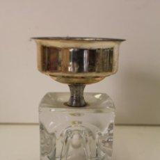Vintage: CANDELABRO PLATEADO Y CRISTAL. Lote 262840820