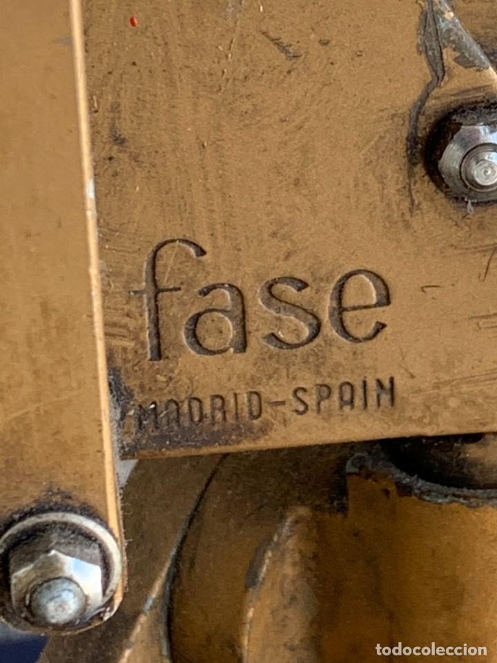 Vintage: PRIMER MODELO FLEXO PIE DE LAMPARA DESPACHO MESA FASE MADRID SPAIN MUELLES ALUMINIO LACADO 113X7CMS - Foto 7 - 263175655