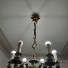 Vintage: LAMPARA DE BRONCE AÑOS 50. Lote 263177865