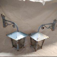 Vintage: FAROLES DE FORJA. Lote 263555595