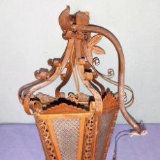 Vintage: ANTIGUO FAROL DE TECHO DE GRAN TAMAÑO PRECIOSO. Lote 263556865