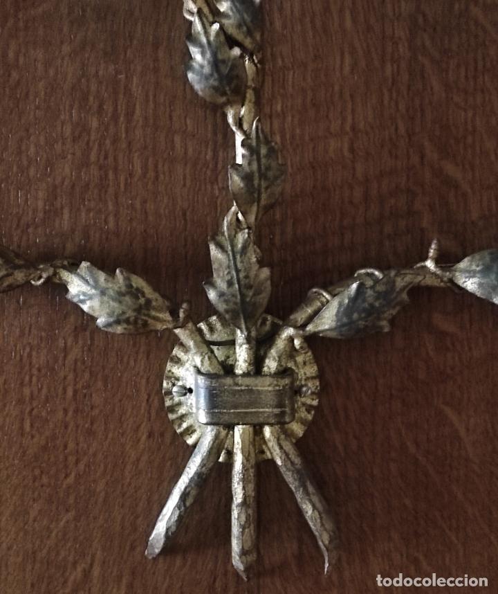 Vintage: Decorativo Gran Aplique - Hierro Forjado Dorado - 5 Luces - Vintage - Foto 5 - 268534319