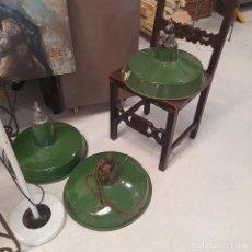 Vintage: TRES LAMPARAS EN VERDE 1950S. Lote 268761569