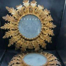 Vintage: APLIQUE SOL. HIERRO Y CRISTAL. Lote 268776184