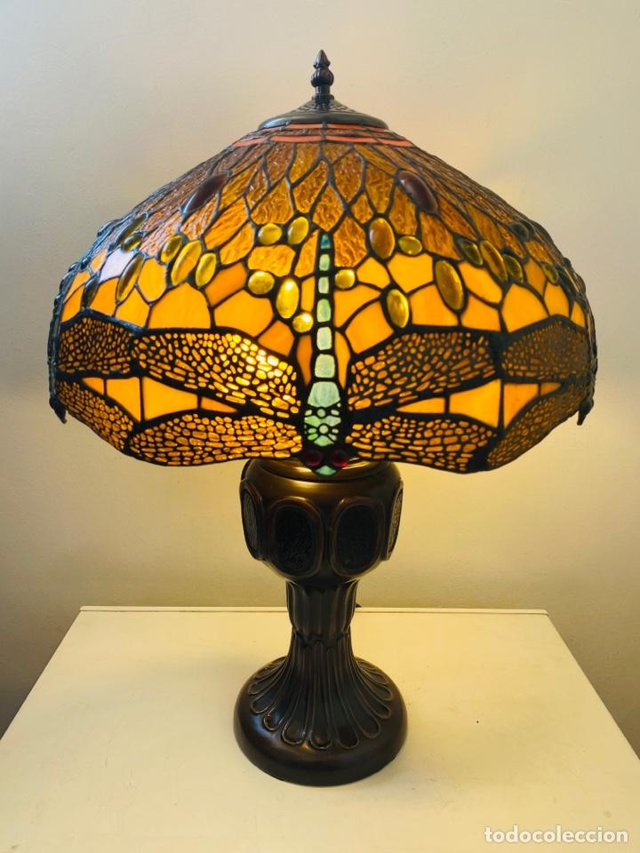 TIFFANY DRAGONFLY LAMP (Vintage - Lámparas, Apliques, Candelabros y Faroles)
