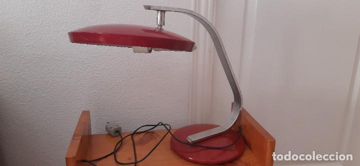 LÁMPARA FASE MODELO 520 ROJA, NO TIENE DIFUSOR. (Vintage - Lámparas, Apliques, Candelabros y Faroles)