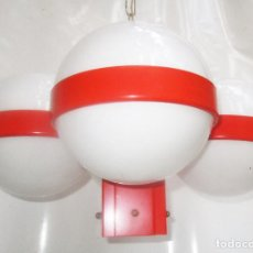 Vintage: FANTASTICA LAMPARA VINTAGE TRAMO MIGUEL MILA CARE DE TECHO. Lote 268894699