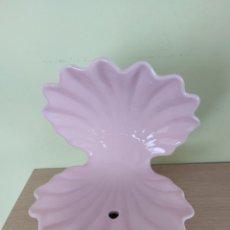 Vintage: LAMPARA CONCHA CERAMICA MANISES. Lote 268895779