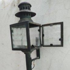 Vintage: CLASICO FAROL HIERRO FAROL CARRUAJE O TREN LAMPARA APLIQUE ELECTRIFICADO, DECORACION, RUSTICA, RURAÑ. Lote 269843613