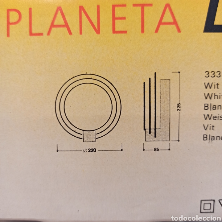 Vintage: Aplique 80s PLANETA Lumiance - Foto 16 - 270926678