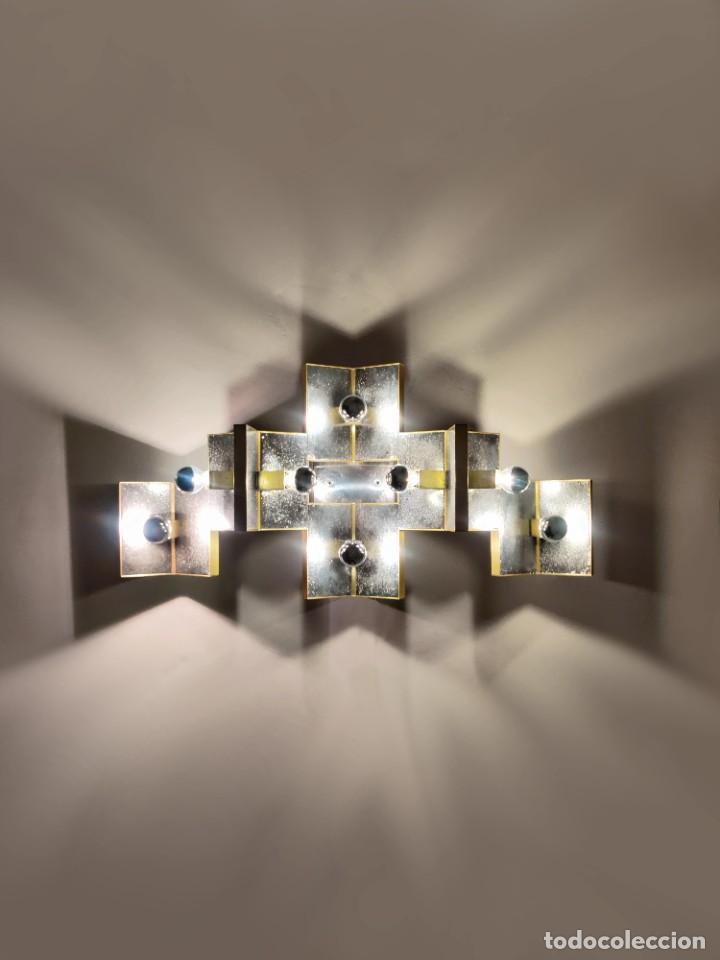 Vintage: Espectacular lámpara de pared de Gaetano Sciolari, 1970s - Foto 3 - 276961393